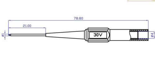 20pcs Needle Tip Multimeter Probes Test Flexible Back Pin 4mm Banana Socket Plug