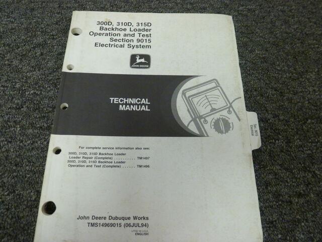 John Deere 300d 310d 315d Backhoe Loader Electrical Wiring