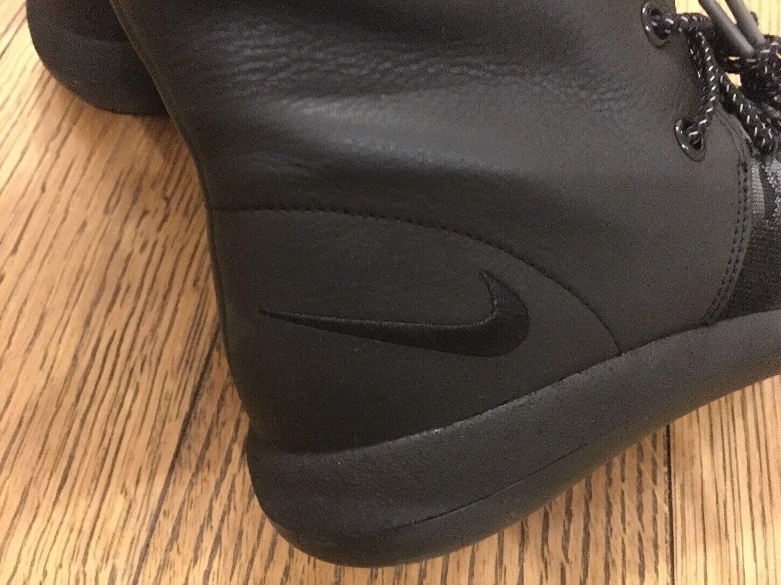 Nike roshe zwei hi flyknit 861708-001 schwarz schwarz schwarz - grau sneakerboot selten frauen 1293bb