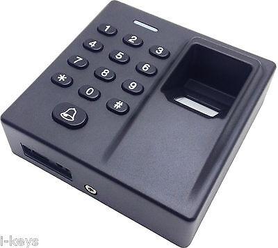 Fingerprint/ 5 Stk. Transponder/PIN-Zutrittssystem+Prog.-karte & dt. Anleitung