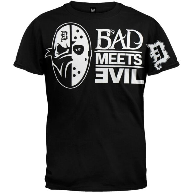 AUTHENTIC EMINEM  BAD MEETS EVIL MASKS RAP SLIM SHADY MUSIC SHIRT S M L XL 2XL