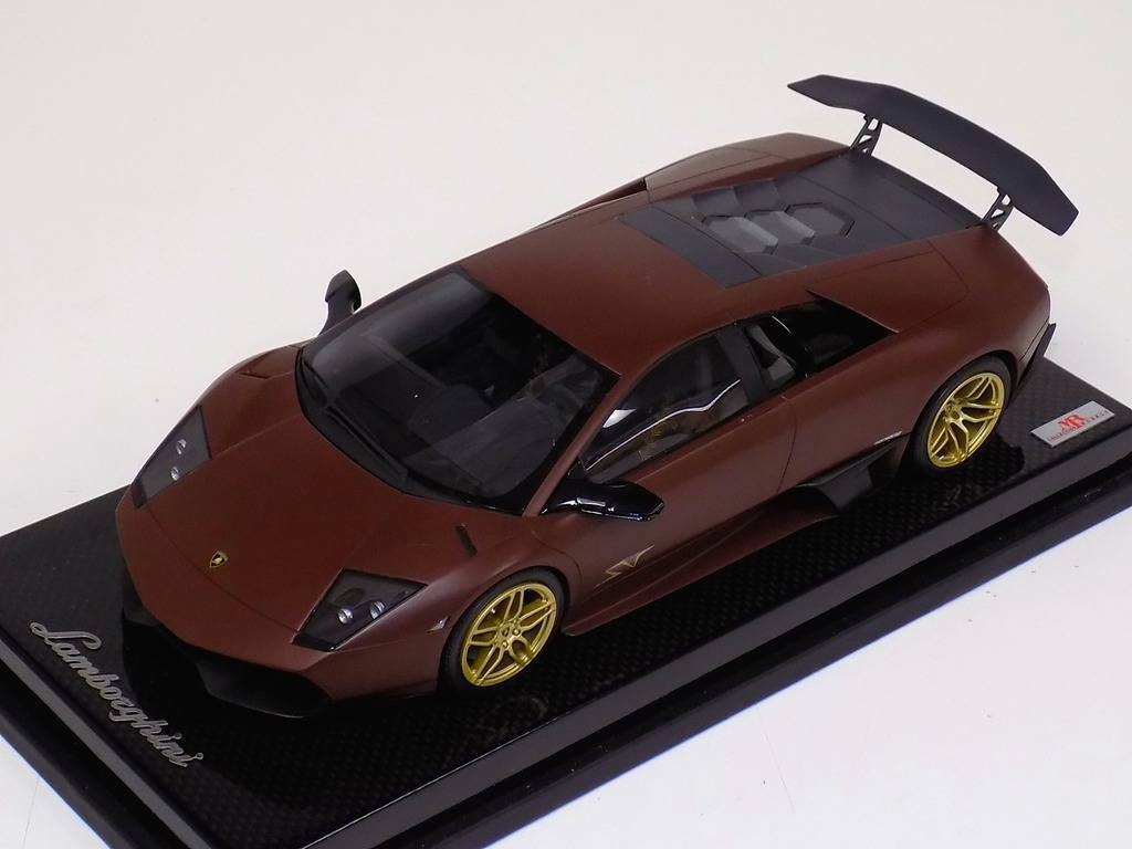 1 18 MR Collection Lamborghini Murcielago SV 670 Matt Brown gold SV Carbon Base