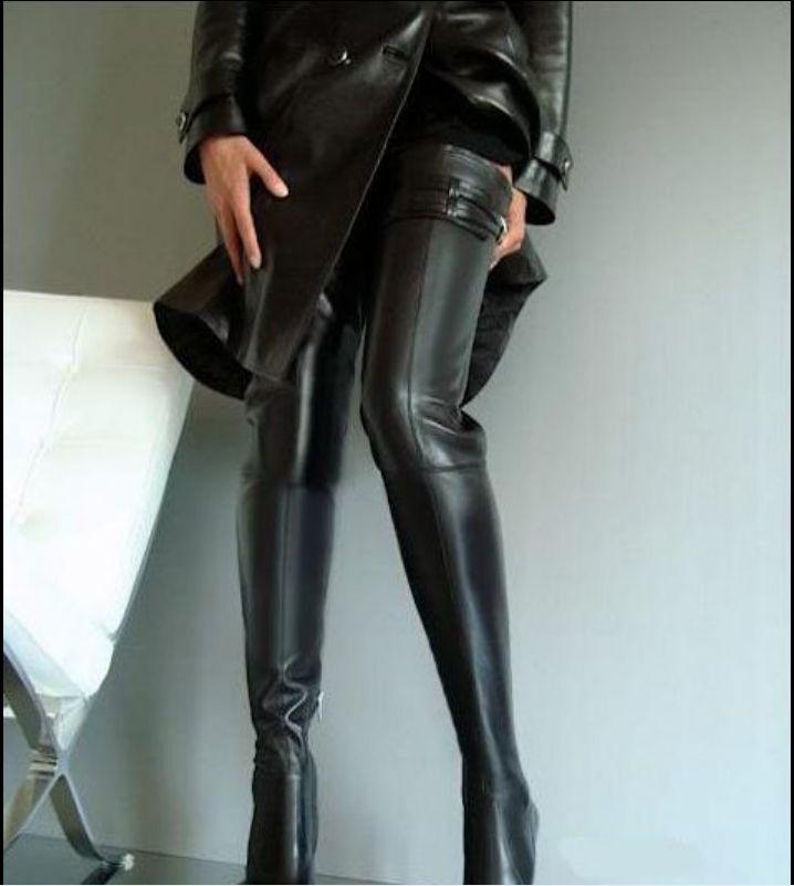 Para de mujer en punta de Para cuero Stiletto Sobre la Rodilla Botas Altas Damas zapatos  Talla 3d815a