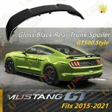 Fits Ford Mustang 2015 2021 Gt Style Gloss Black Rear Trunk Spoiler Wing Lid Fits Mustang