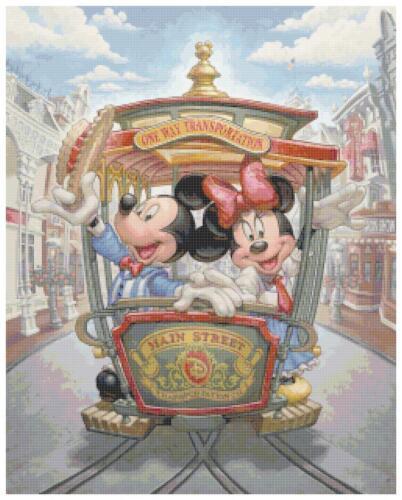 "Disney/'s Mickey and Minnie Mouse /""Main Street USA/"" Cross Stitch Pattern CD"