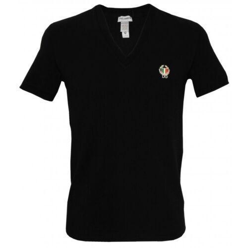 con uomo scollatura Gabbana shirt T nera da Sport profonda Crest Dolce qC0aEAw