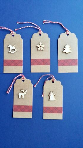 Handmade Gift Tags with a Wooden Christmas Icon 5 Christmas Gift Tags