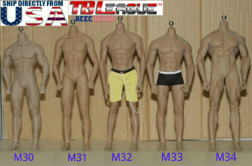 PHICEN TBLeague 1/6 Steel Skeleton Male Muscular Seamless Figure Body U.S.A.
