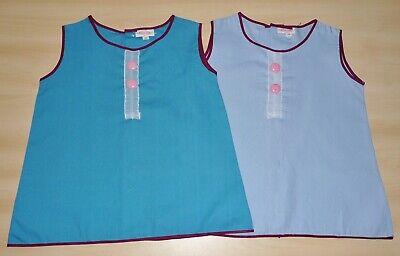 2 Pack Di Vintage Anni 1970 Mai Indossato Ragazze Assortiti Blu A-line Abiti Età 12 Mesi-mostra Il Titolo Originale Diversificato Nell'Imballaggio
