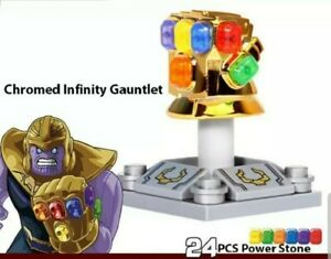 Thanos Lego Custom Infinity Gauntlet Chrome Gold with Stones Infinity War