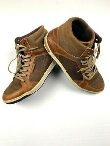 BULL-BOXER-Mens-Leather-Ankle-Chukka-Boots-Size-43-10-US-Brown