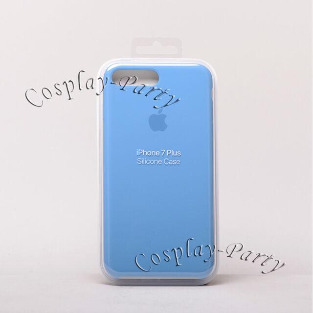 3ccab03866 Original Apple Silicone iPhone 7 Plus / iPhone 8 Plus Snap Case - Azure Blue  New