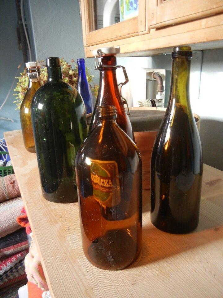 Flasker, mælkeflasker og andre gamle flasker