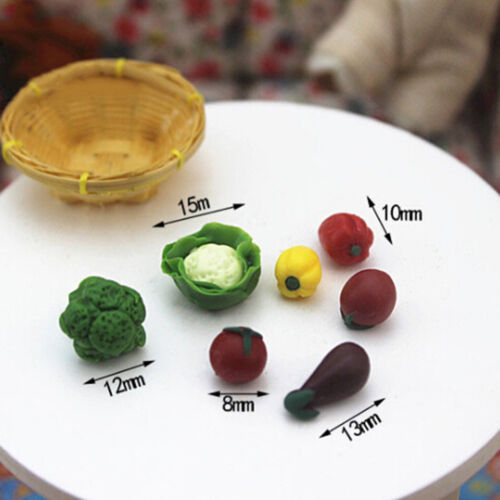 7Pcs//set Dollhouse toy model miniature food play mini pocket vegetables Zd