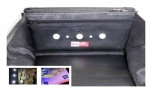 Echtleder-Kellnerboerse-Kellnerportemonnaie-mit-Licht-LED-und-Geldscheinpruefung