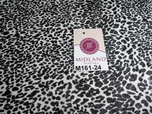 "Black and white animal leopard print chiffon Fabric 44/"" wide M161-24 Mtex"
