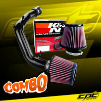 01-05 Vw Jetta 1.8t 1.8l 4cyl Black Cold Air Intake + K&n Air Filter