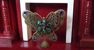 1/12 dolls house miniature Butterfly Firescreen fireplace Ornament Lounge LGW