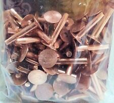 """#9 Large 1"""" 50 Pack of COPPER RIVETS & BURRS 11282-00 Tandy Leather Rivet Washer"""