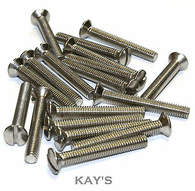 STAINLESS STEEL M6 x 40mm RAISED COUNTERSUNK SLOTTED MACHINE SCREWS A2 CSK BOLTS