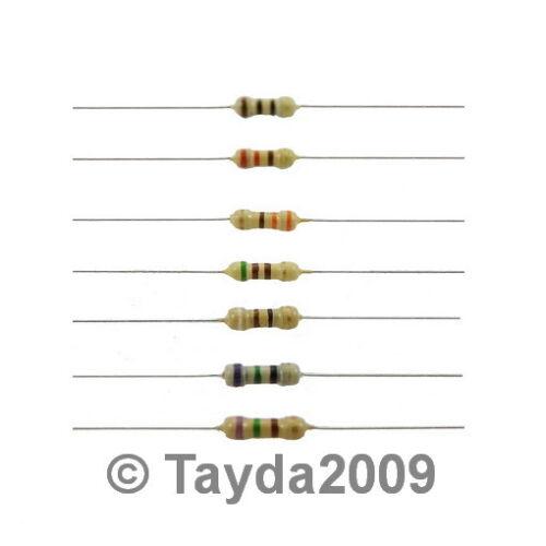 100 X resistencias 5k1 5.1 k ohmios Ohm 1//4w 5/% de carbono de película