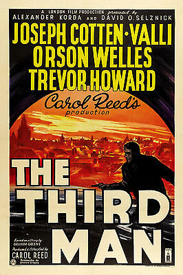 """THE THIRD MAN""..Orson Welles Trevor Howard ..Classic Movie Poster A1A2A3A4Sizes"