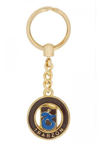 Schlüsselanhänger Trabzonspor TS für Fußballfans aus Metall Gold Farbe