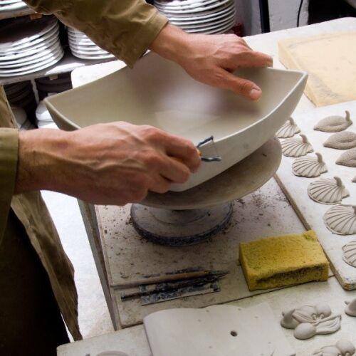 BASSANO Céramique de plateau 26 cm citron motif d/'Italie NEUF