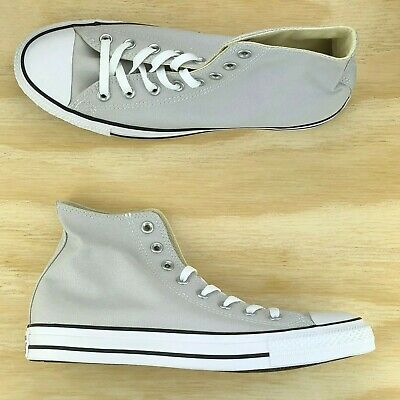 Converse Chuck Taylor All Star Light Grey White High Top Sneakers 161419F Size | eBay