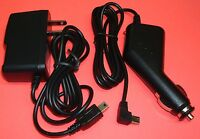 2 Amp Car Charger + Home Wall Adapter For Garmin Nuvi 205w 260w 265t 1350t