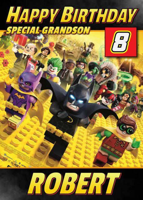 Batman Lego Movie Personalised Birthday Card Any Name Age Relative