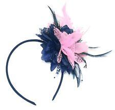 ef086fb1e491 Flower Feather Hair Fascinator on Headband Wedding Royal Ascot Races Bespoke