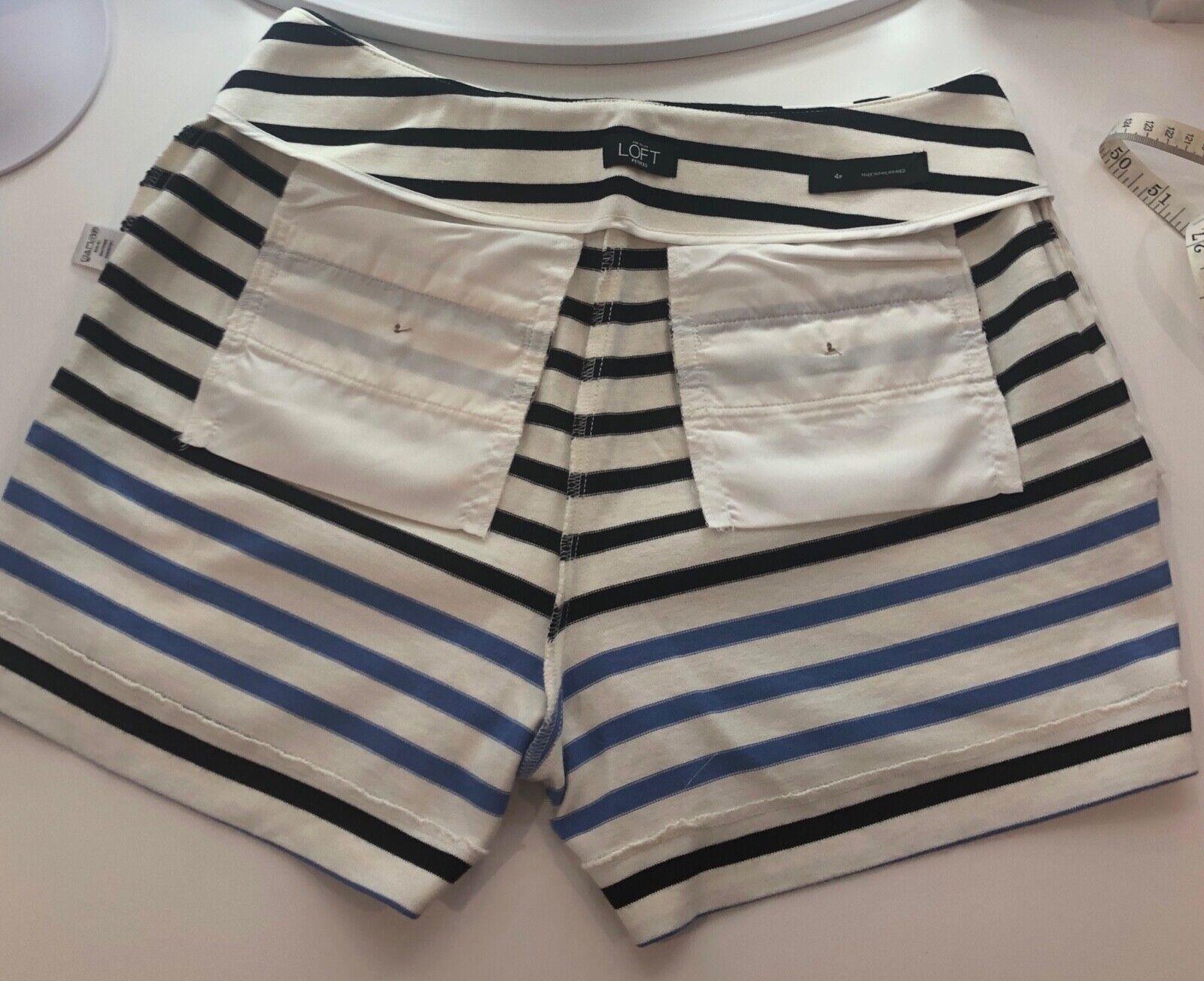 Ann Taylor LOFT Tailored Cotton Striped Shorts Wo… - image 5