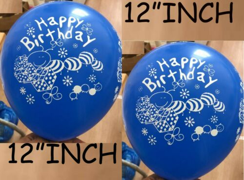 """12/"""" Printed Happy Birthday Blue Colour Latex Balloons party /& decorations baloon"""