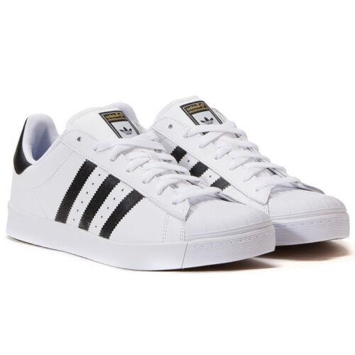 adidas Originals Mens Superstar Vulc ADV Skate Shoes Casual White Black UK  10