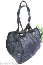SONIA RYKIEL Sacs Black Nylon Tote Shoulder Bag Japan
