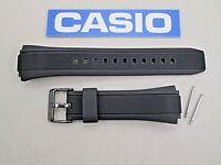 Genuine Casio Edifice Efa-131pb Efa-131rbsp Black Resin Rubber Watch Band Strap