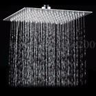 6/8/12'' Square Stainless Steel Rain Shower Head Rainfall Bathroom Top Sprayer