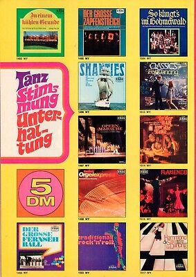 B11697 Prospekt Broschüre Gesamt-Programm LP 70er Jahre PHILIPS