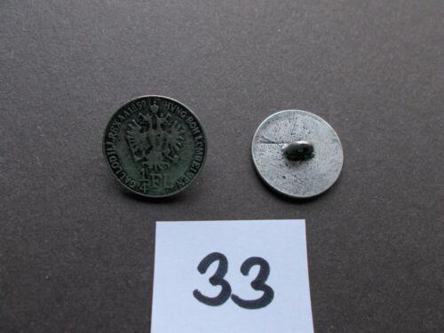 10 Knöpfe Metall Münzknopf antiksilber mit Öse Dirndl Schmuck Oktoberfest 20mm