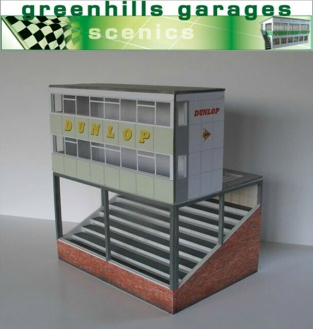 Greenhills Scalextric Slot Car Building Silverstone Control Tower Kit 1:43 Sc...