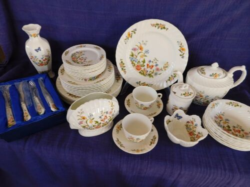 Aynsley Cottage Garden SAUCER LOT of TWO 2 have more items to this set