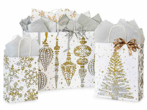 MERCURY-GLASS-Design-Print-Christmas-Gift-Bag-ONLY-Choose-Size-amp-Pack-Amount