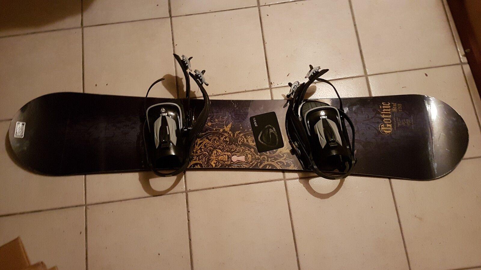 Snowboard Gothic Gothic Gothic 1,60m mit Binden a9c97e