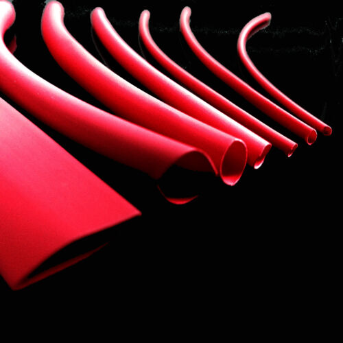 7 X 400mm longitudes Rojo Heat Shrink Tubing heatshrink Tubo Sleeving Pack Kit