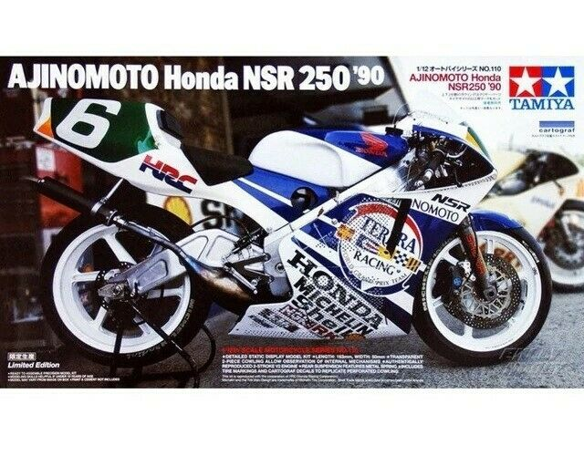 TAMIYA 1 12 AJINOMOTO HONDA NSR250'90 Motorcycle Plastic modellllerler Kit TAM4110