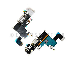White iPhone 6 Charger Charging Port Dock Connector Headphone Jack Flex Cable