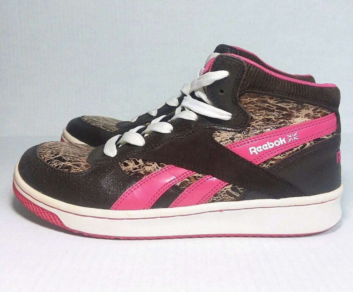 Retro REEBOK Brown, Pink, MARBLE High Top Sneakers US Size 6 RB 904 RARE shoes