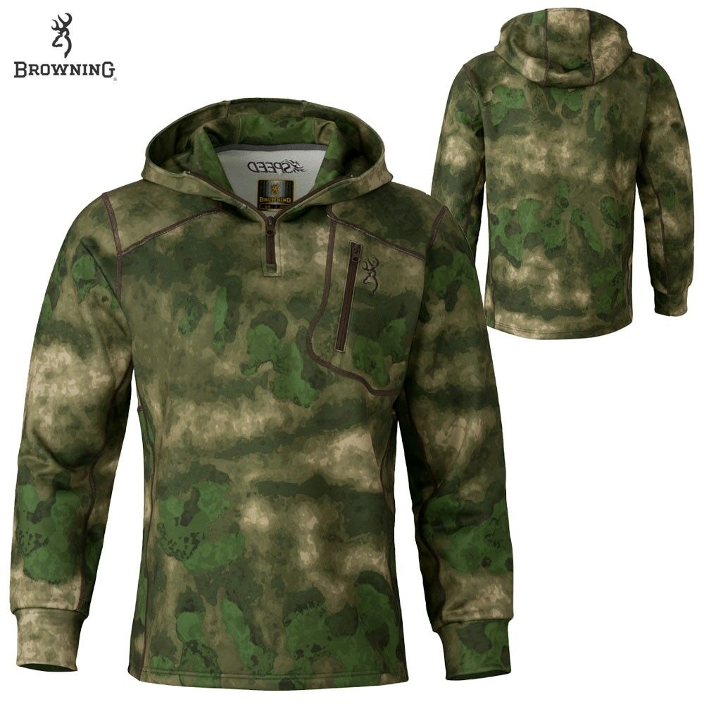 Browning Hell's Canyon Speed 1  4 Zip Hoodie (S)-ATACS FG  40% off