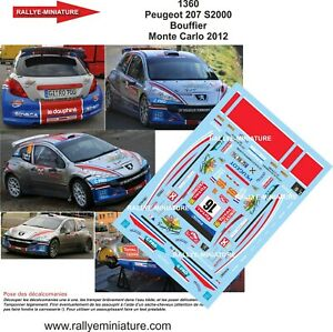 DECALS-1-18-REF-1360-PEUGEOT-207-S2000-RALLYE-MONTE-CARLO-2012-WRC-RALLY